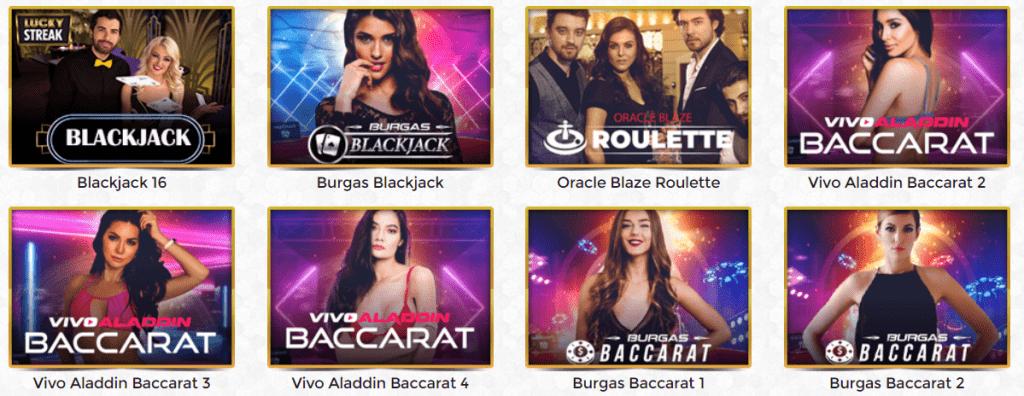 Unique Casino live casino